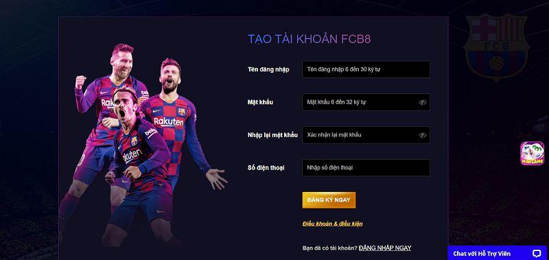 Để chơi game Sports tại FCB8 bạn cần tạo tài khoản trước